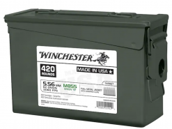 Winchester 5.56 M855 FMJ 10 Round Clips in Ammo Can WM855420CS