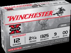 Winchester Super X Buckshot 12GA 00BK 5 shells XB1200